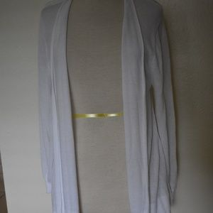 Investments II White Cardigan Sweater EUC